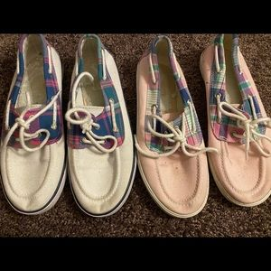 2 pairs of Polo boat shoes